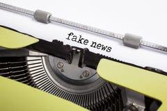 Typewrite closeup - fake news. Concept Royalty Free Stock Photos