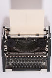 Typewriter. Old typewriter with paper in it Royalty Free Stock Image