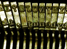 Typewriter. Close up of a typewriter, with shallow DOF Stock Photos
