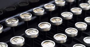 Typewriter. 's keyboards close up Stock Photos
