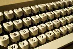 Typewriter. A close-up of a keyboard of a typewriter Royalty Free Stock Images