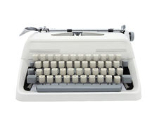 Typewriter. Isolated on white background royalty free stock photo
