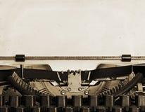 Typewriter. Obsolete typewriter with old paper Royalty Free Stock Images