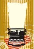 Typewriter. Ochre typewriter with background texture Royalty Free Stock Photos