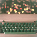 Typewriter. Pink typewriter on lights background Royalty Free Stock Image
