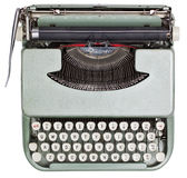 Typewriter. From above isolated on white background with clipping path Royalty Free Stock Photo
