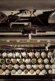 Typewriter. Old typewriter keyboard and mechanic Stock Photos