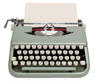 Typewriter. With sheet of paper. Isolated on white background with clipping path Royalty Free Stock Photography
