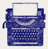 Typewriter. Doodle style. Vector sketchy Royalty Free Stock Photography