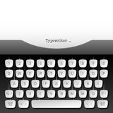 Typewriter. Whith paper sheet vector illustration Stock Photo