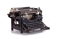 Typewriter. On white typing type writing write Stock Image