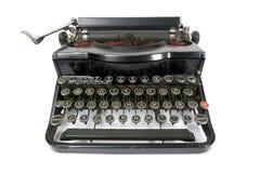 Typewriter. Old easily portable metal typewriter Stock Photography