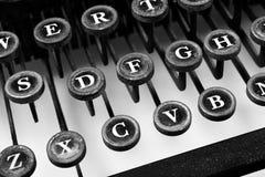 Typewriter. Vintage typewriter -- black and white Stock Image