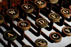 Typewriter. Vintage Typewriter -- rusted look, heavy contrast Stock Photos