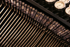 Typewriter. Types of vintage typewriter close-up Stock Photo