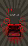 Typewriter vector illustration