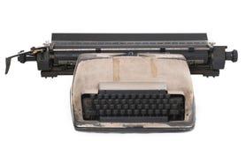 Typewriter. Isolated vintage typewriter over white background Stock Image
