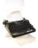 Typewriter. The typewriter is intended to print any texts on a paper Stock Photo