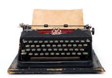 Typewriter. Vintage typewriter isolated on white background stock images
