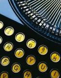 Typewriter. Antique typewriter close up showing keys Stock Photography