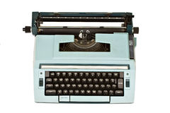 Typewriter. Old typewriter isolated with clipping path over white background Royalty Free Stock Photos