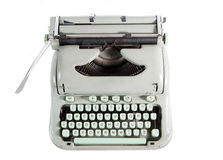 Typewriter from above. Isolated on white background Stock Images