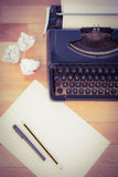Typewriter And Paper On Table Stock Image