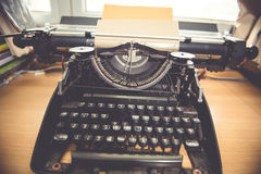 Typewriter. Antique Typewriter,Antique typewriter is not commonly used Royalty Free Stock Photo