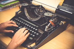 Typewriter. Antique Typewriter,Antique typewriter is not commonly used Royalty Free Stock Image