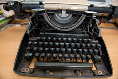 Typewriter. Antique Typewriter,Antique typewriter is not commonly used Royalty Free Stock Photos