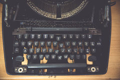 Typewriter. Antique Typewriter,Antique typewriter is not commonly used Stock Photo