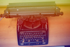 Typewriter. Antique Typewriter,Antique typewriter is not commonly used Royalty Free Stock Images