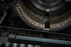 Typewriter. Antique Typewriter,Antique typewriter is not commonly used Royalty Free Stock Photography