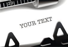 Typewriter background Stock Photo