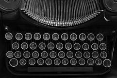 Typewriter black and white Royalty Free Stock Photo