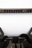 Typewriter and blank paper Stock Photos
