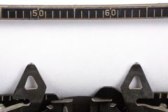 Typewriter and blank paper Stock Image