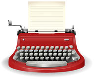 Typewriter. With blank sheet of paper Stock Photo