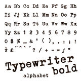 Typewriter bold alphabet. Stock Photos