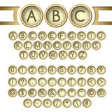 Typewriter buttons alphabet Royalty Free Stock Images