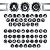 Typewriter buttons alphabet Royalty Free Stock Photos