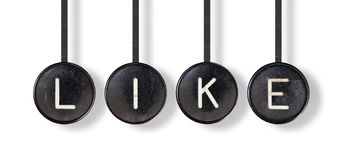 Typewriter buttons, isolated - Like Stock Photo