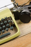Typewriter and camera Stock Photography