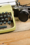 Typewriter and camera Royalty Free Stock Photography