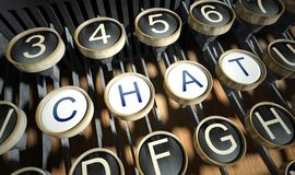 Typewriter with Chat buttons, vintage Royalty Free Stock Image