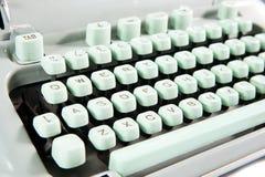 Typewriter, close-up. Close up of the old typewriter keyboard Stock Image