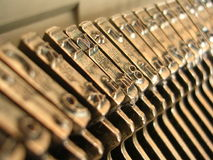 Typewriter Close-up. A close up of some typewriter letters Royalty Free Stock Photo