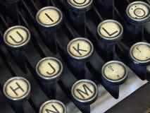 Typewriter. Close up of an old writing on typewriters Royalty Free Stock Image