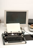 Typewriter and computer Royalty Free Stock Photos