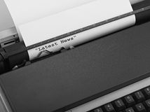 Typewriter, concept of Online News Royalty Free Stock Photography